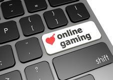 On-line-Spiel Lizenzfreies Stockfoto