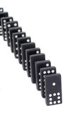 Line of Standing Dominos Royalty Free Stock Photography