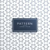Line star pattern background design Royalty Free Stock Photography
