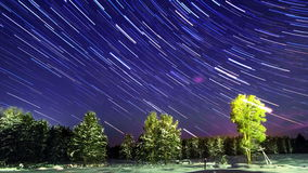 Line from the stars. Time Lapse. 4K. Line from the stars. Time Lapse. Video. UltraHD (4K stock video