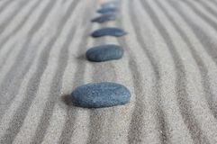 Line with  stones Royalty Free Stock Photography