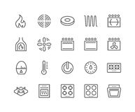 Line Stove Icons Royalty Free Stock Photo