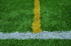 Line stripe on the green Grass Stock Photography