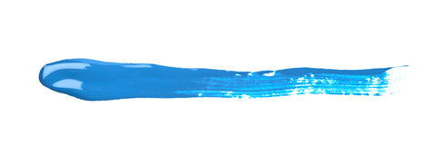 Line stroke of paint isolated Royalty Free Stock Images
