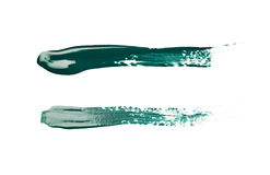 Line stroke of paint isolated Stock Images