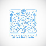 Line Style Science Vector Illustration Stock Photography