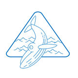 Line style whale icon Royalty Free Stock Image