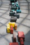Line of suitcases. In the airport royalty free stock photography