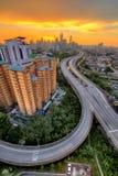 Line Sunset  To Kuala Lumpur Royalty Free Stock Photography
