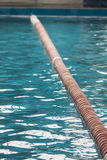 Line on the swimmingpool. A deviding line on the water of a swimmingpool Stock Photo