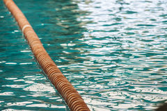 Line on the swimmingpool. A dividing line on the water of a swimmingpool Royalty Free Stock Photos