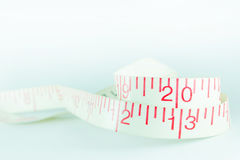 Line tape measure white new year 2013 royalty free stock photo