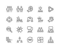 Free Line Team Work Icons Stock Photography - 120223062