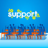 On-line technical support concept design Stock Images
