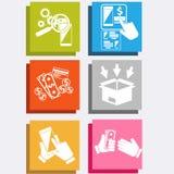 On-line-Technologieinternet-Einkaufen des elektronischen Geschäftsverkehrs Stockfoto