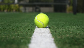 Line tennis ball Royalty Free Stock Photos