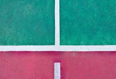Line on the tennis court Royalty Free Stock Photo