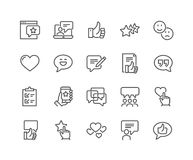 Line Testimonials Icons royalty free illustration