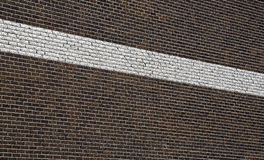 Line on textured structure Royalty Free Stock Images