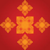 Line Thai art Vector artistic of traditional line thai. Royalty Free Stock Images