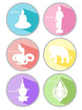 Line thai icons vector Stock Image