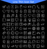 Line thin icon set Royalty Free Stock Image