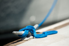Line tied to cleat Royalty Free Stock Photo