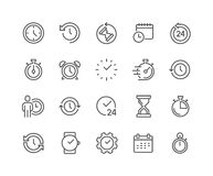 Line Time Icons Stock Photography
