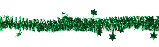 Line of a tinsel garland royalty free stock images