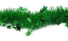 Line of a tinsel garland isolated stock photo