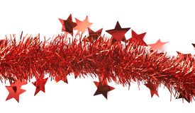 Line of a tinsel garland isolated Stock Image