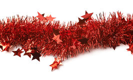 Line of a tinsel garland royalty free stock photography