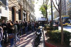 Line to buy Red Hot Chili Peppers ticket Stock Photos