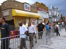 Line to See Chuck Brown Stock Photos