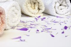 Line of towels Royalty Free Stock Photography