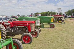 Line of Tractors Royalty Free Stock Images