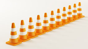 Line from Traffic Cones Royalty Free Stock Photography