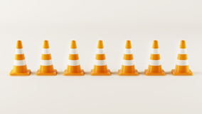 Line from Traffic Cones Royalty Free Stock Photo