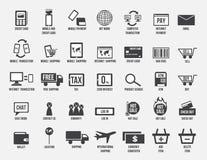 On-line--transection, Kauf- und Verkaufslogo, Computer und Mobile Lizenzfreies Stockfoto