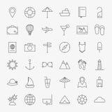 Line Travel Icons Big Set stock illustration