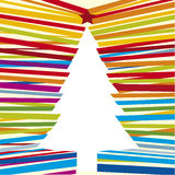 Line tree (vector). Illustration of Christmas tree with stripped lines (vector Stock Photo