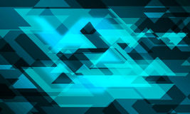 Line triangle 3D glowing background Stock Photography