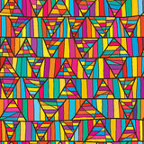 Line triangle jelly seamless pattern Stock Image