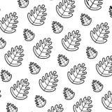 Line tropical leaf botany nature background. Vector illustration stock illustration