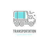 Line truck logo Stock Photos
