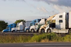 Line of Trucks 2 royalty free stock photography