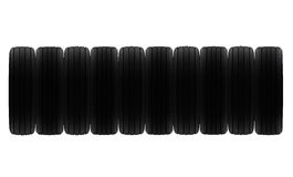 Line of tyres Royalty Free Stock Images