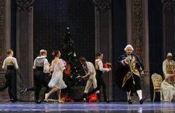 Line up для того чтобы получить Щелкунчика балета подарков- рождества Стоковое Изображение RF