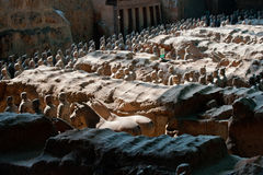 Line-up av terrakottan Krigare-Xian-Kina Arkivfoton