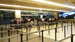 Line up in Changi Airport Singapore Stock Image